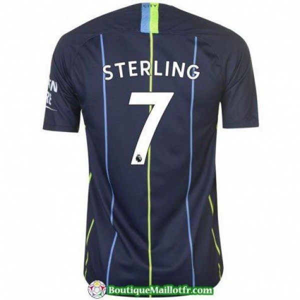 Maillot Manchester City Sterling 2018 2019 Exterie...
