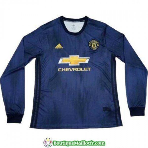 Maillot Manchester United Manche Longue 2018 2019 ...