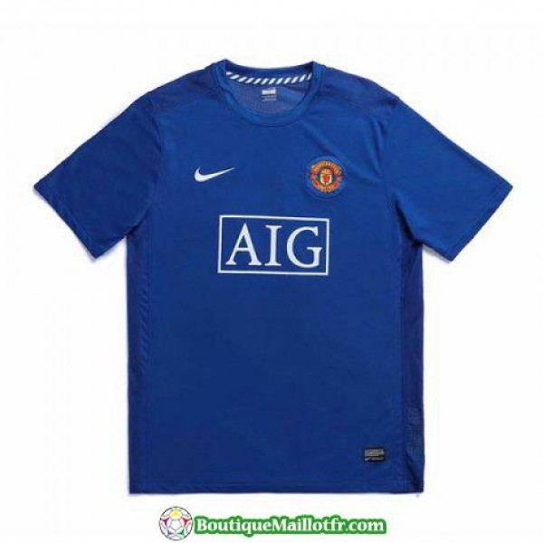 Maillot Manchester United Retro 2007-2008 Exterieu...