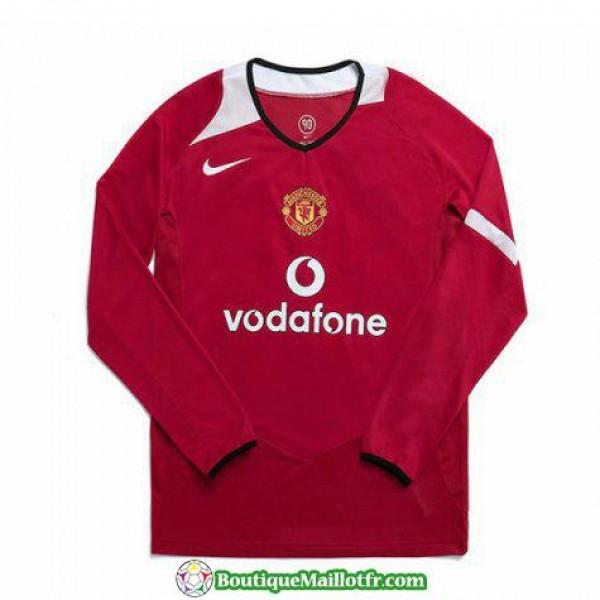 Maillot Manchester United Retro Manche Longue 2005...