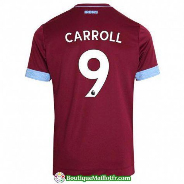 Maillot West Ham United Carroll 2018 2019 Domicile