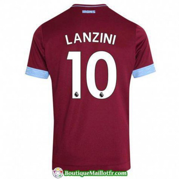 Maillot West Ham United Lanzini 2018 2019 Domicile
