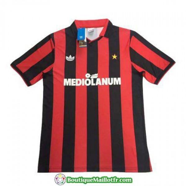 Maillot Ac Milan Retro 1990 Domicile