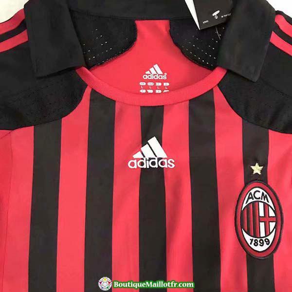 Maillot Ac Milan Retro Manche Longue 2008 Domicile