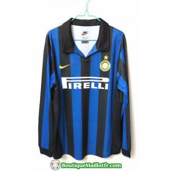Maillot Inter Milan Retro Manche Longue 1998 Domic...