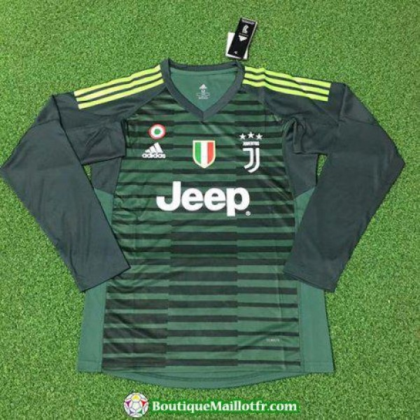 Maillot Juventus Gardien Manche Longue 2018 2019 Vert