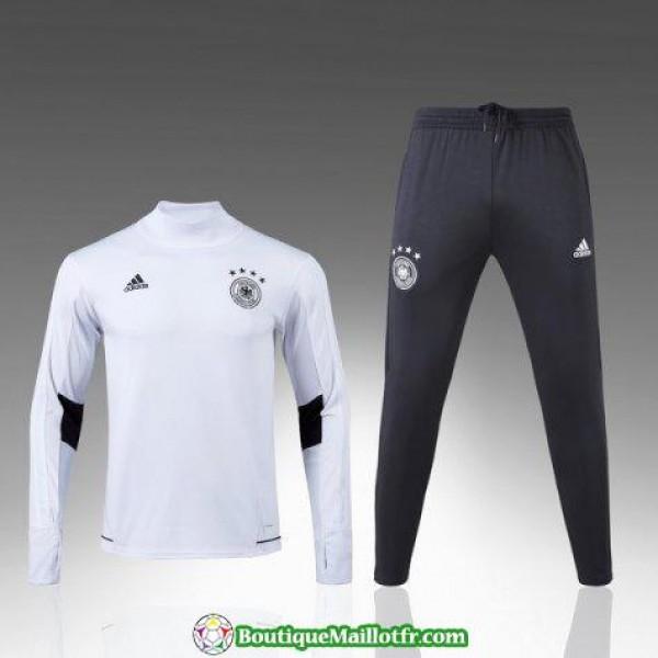 Survetement Allemagne 2017-2018 Col Haut Blanc