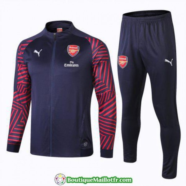 Veste Arsenal 2018 2019 Ensemble Complet Bleu