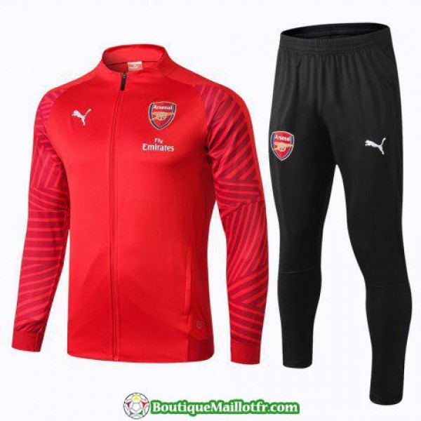 Veste Arsenal 2018 2019 Ensemble Complet Rouge
