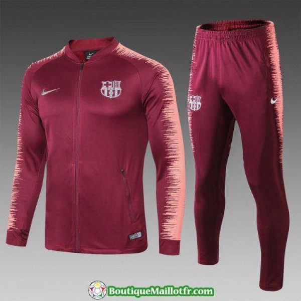 Veste Barcelone 2018 2019 Ensemble Complet Rouge