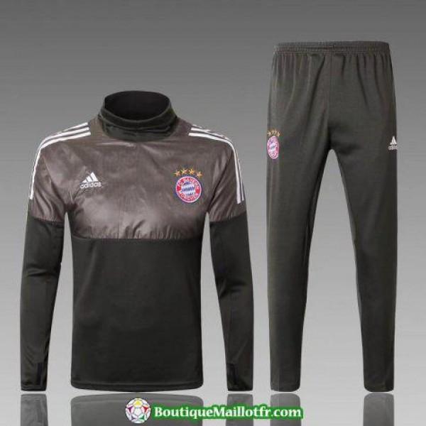 Survetement Bayern Munich 2017-2018 Col Haut Noir