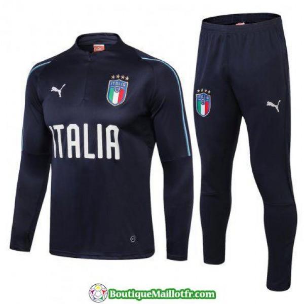 Survetement Italie 2018 Fermeture Eclair Bleu