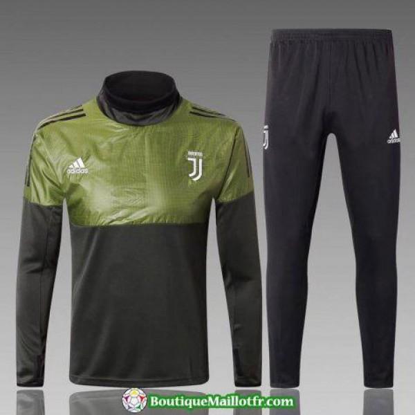Survetement Juventus 2017-2018 Col Haut Verde Noir