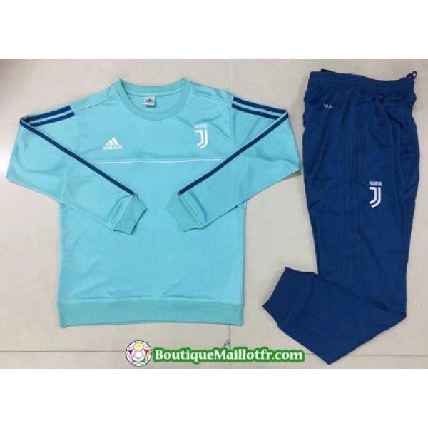 Survetement Juventus 2017-2018 Col Rond Bleu