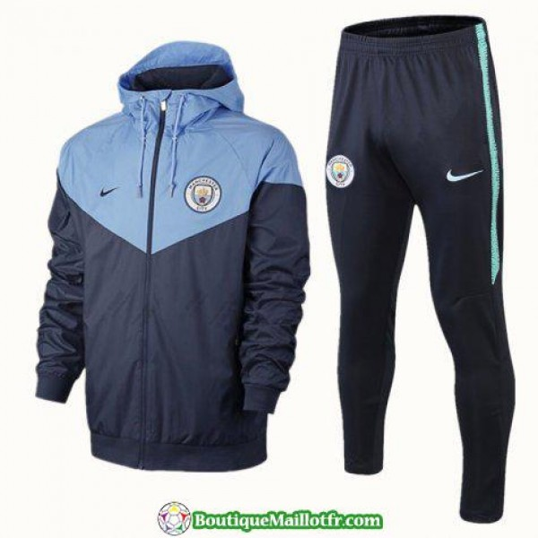 Coupe Vent Manchester City 2018 2019 Bleu