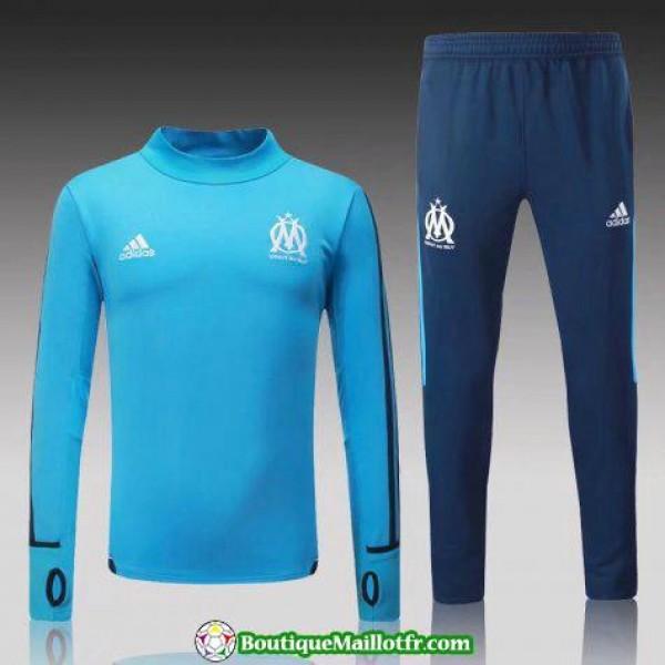 Survetement Marseille 2017-2018 Col Haut Bleu