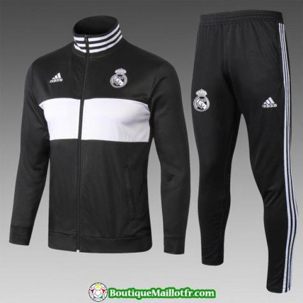 Veste Real Madrid 2018 2019 Ensemble Complet Noir