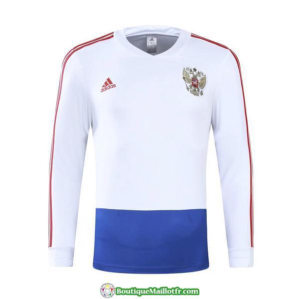 Survetement Russie 2017-2018 V Col Blanc Bleu
