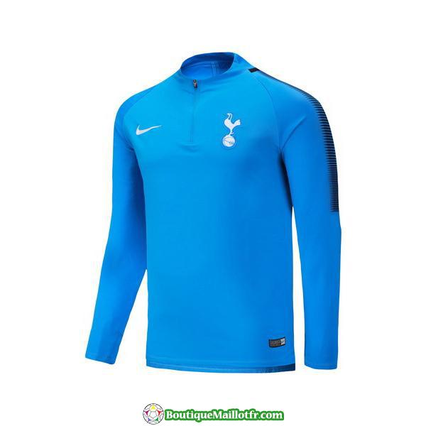 Survetement Tottenham 2017-2018 Fermeture Eclair Bleu